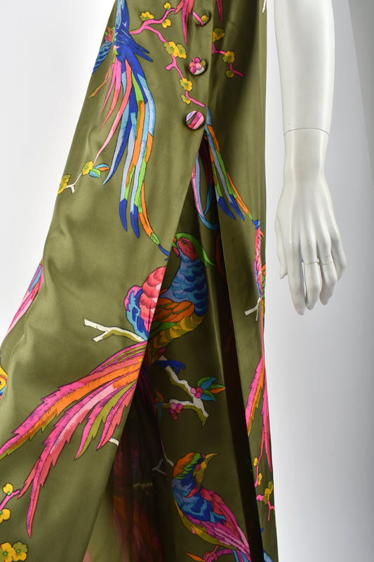 I. MAGNIN 60s silk dress and trousers set / M-L
