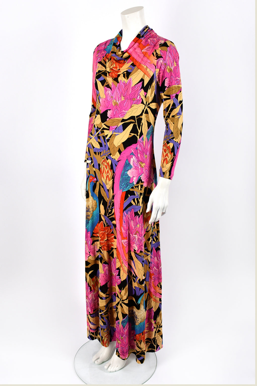 BOTTO 70s silk jersey dress / M-L