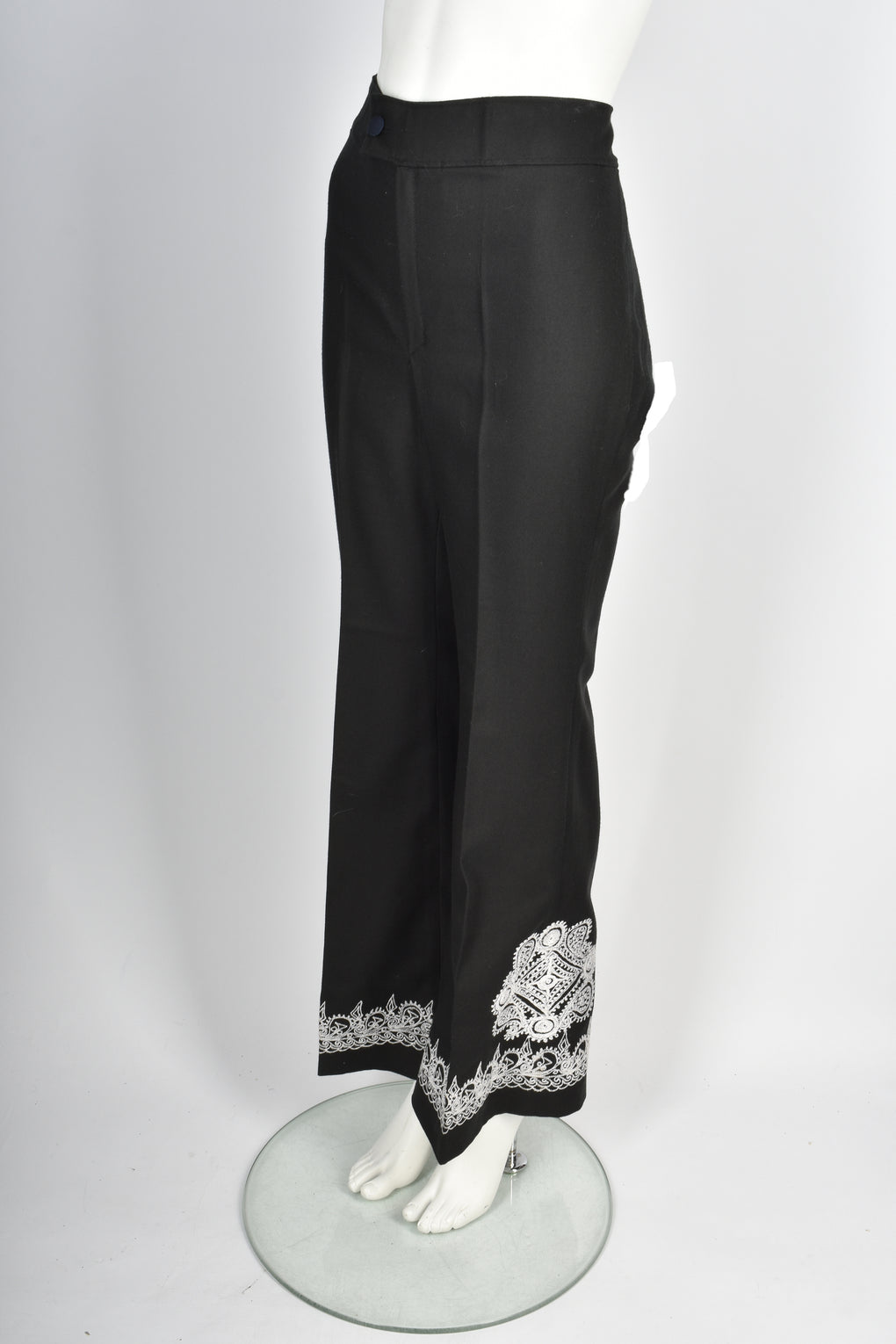 VINTAGE 1970s embroidered trouser suit S-M