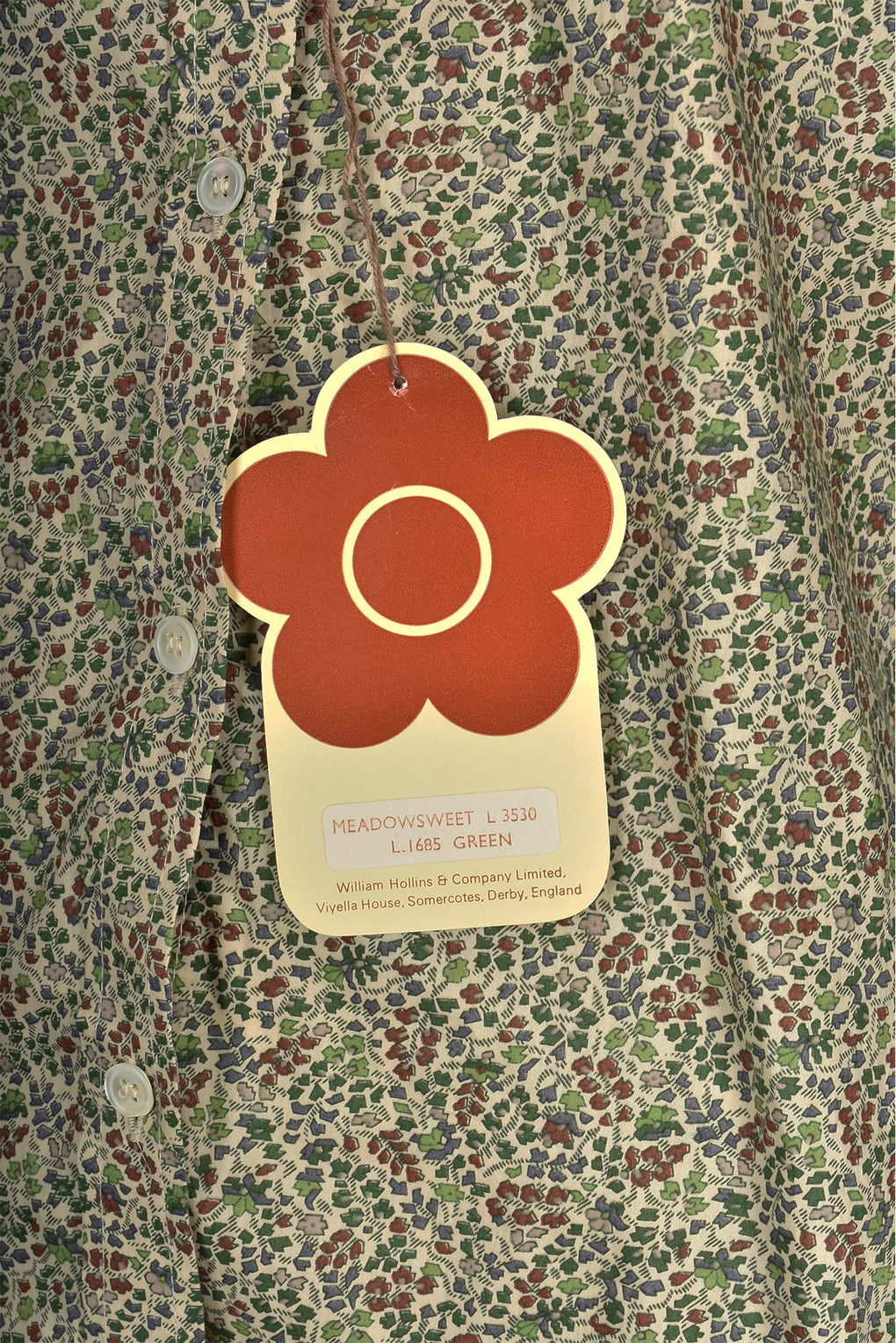 MARY QUANT green floral print buttoned shirt