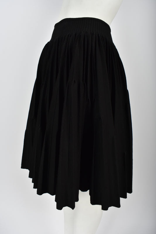 ALAIA pleated circle skirt M