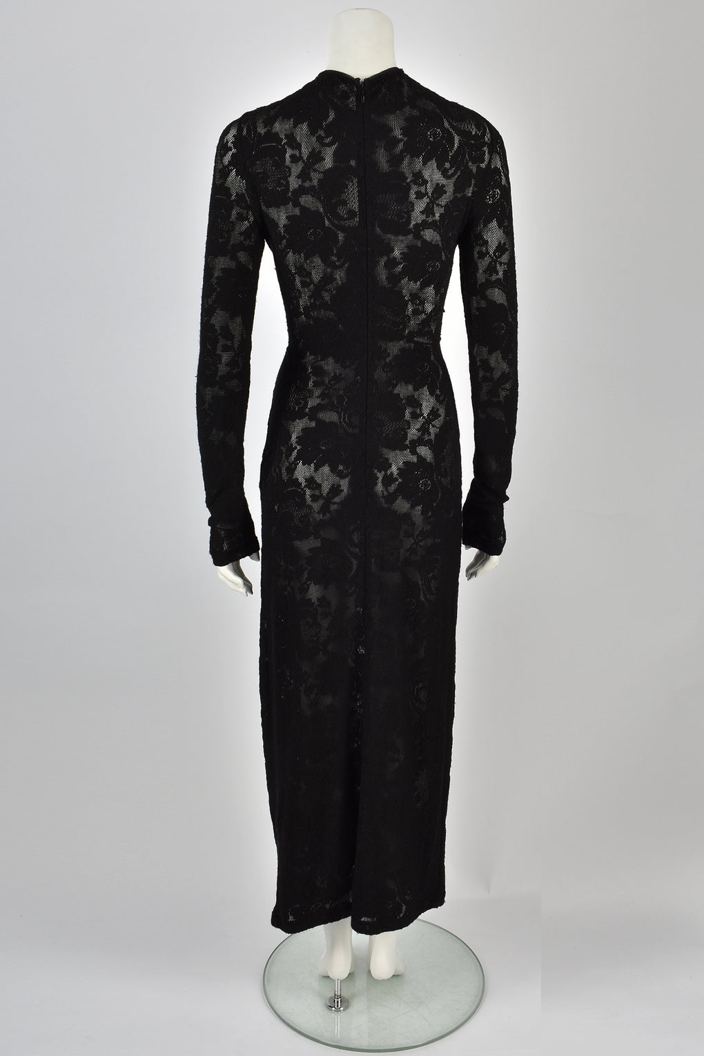 DOLCE & GABBANA 00's black long-sleeved lace dress