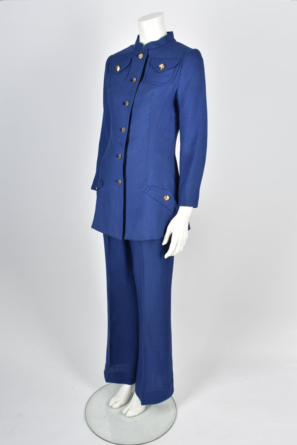 FENWICK 1960s blue trouser suit S-M