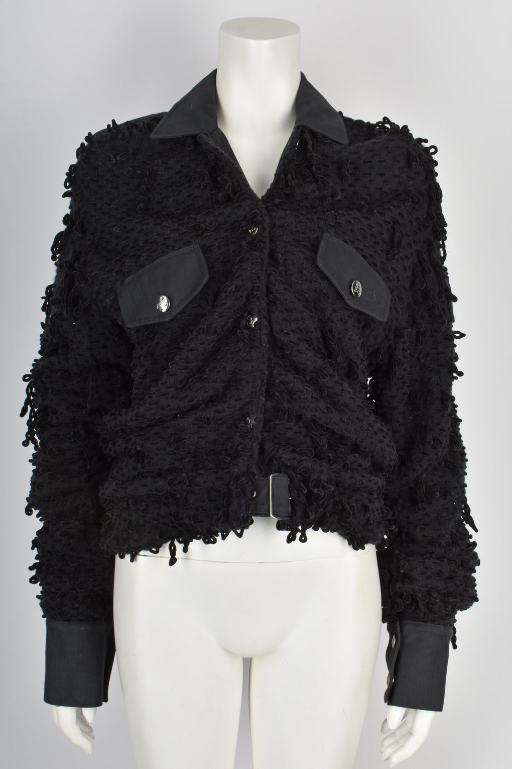 GALLIANO 2000s unisex boucle velvet jacket M-L