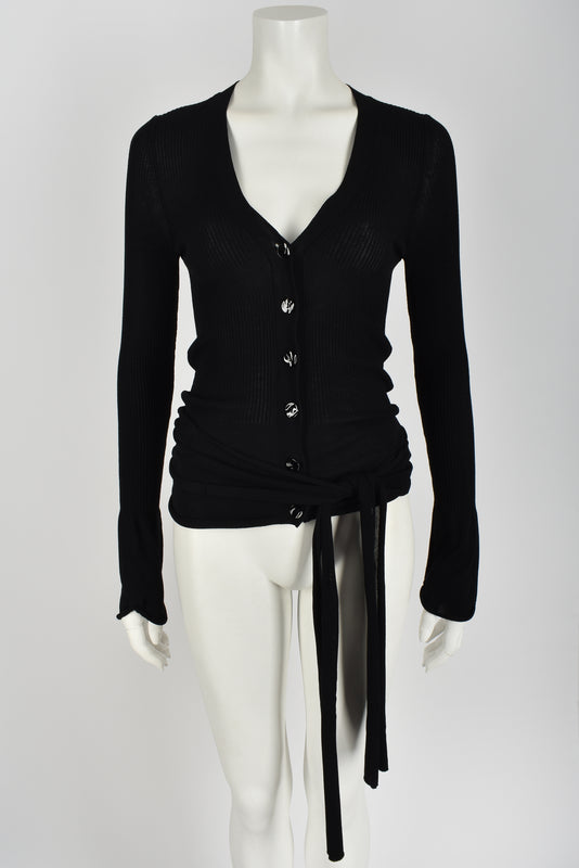 JEAN PAUL GAULTIER 00s open back wrap cardigan M