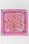 HERMES Fantasies Indiennes silk chiffon small scarf