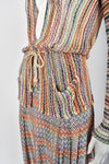 MISSONI 70s knit top and skirt set / S