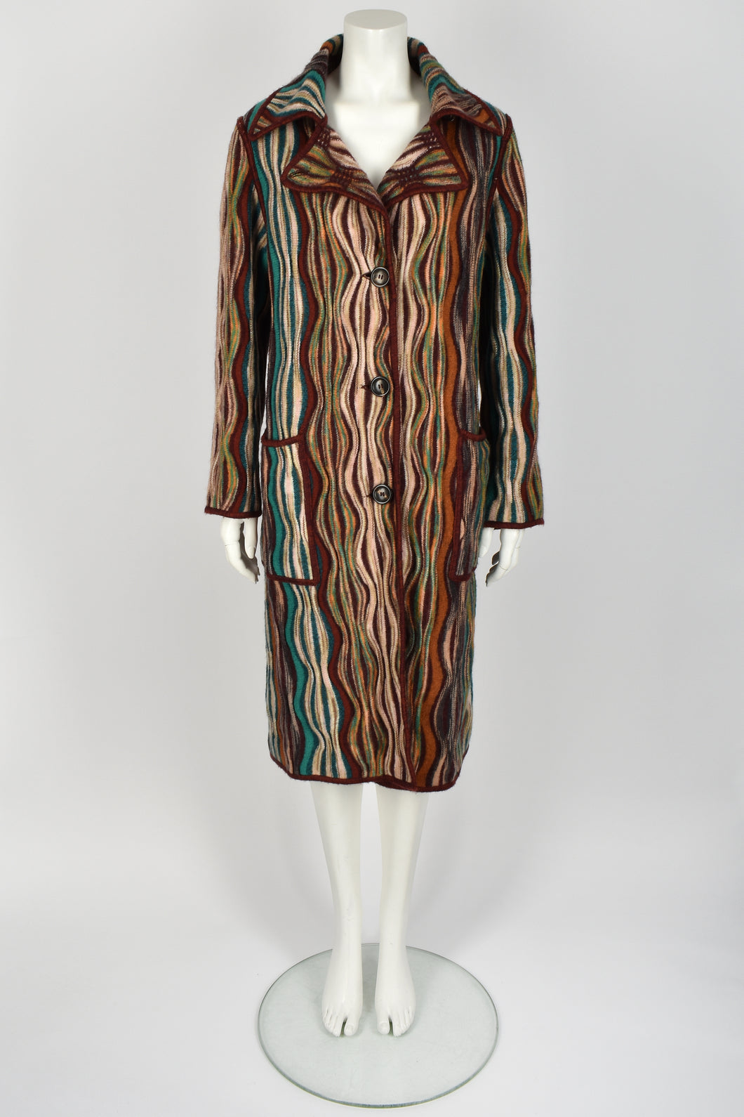 MISSONI wool knit coat M-L