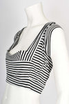 Pam Hogg striped crop top