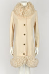 PUCCINI 60s loop knit trim wool coat L