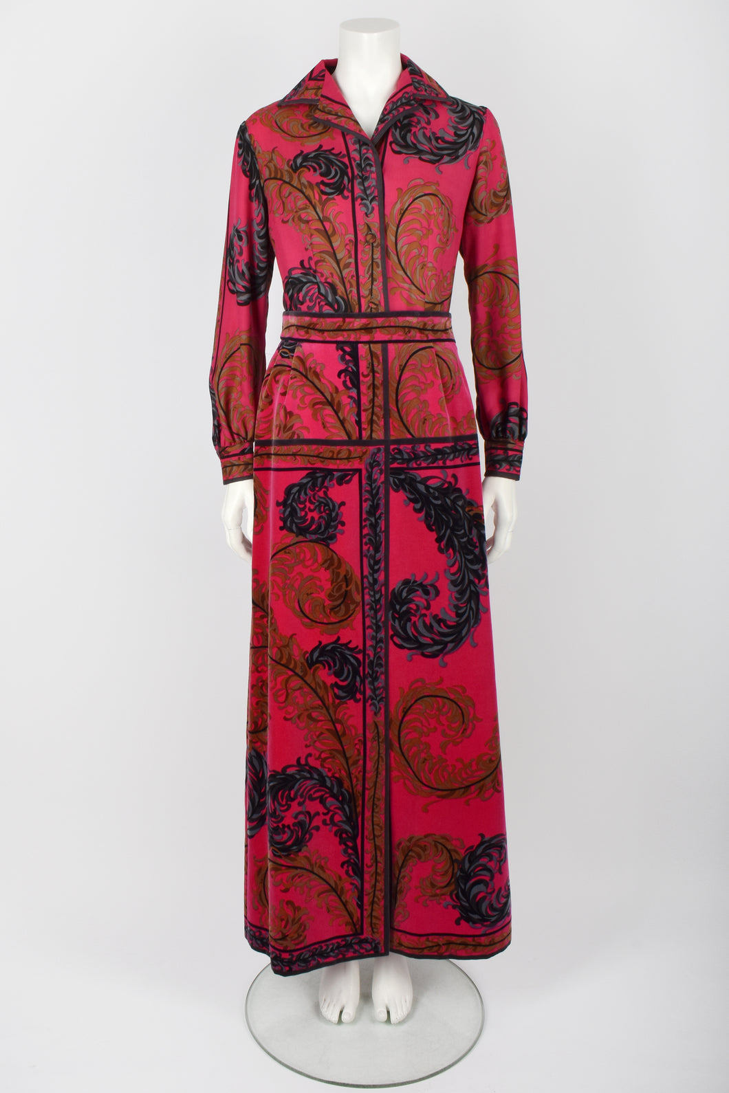 EMILIO PUCCI 70s shirt and skirt set M
