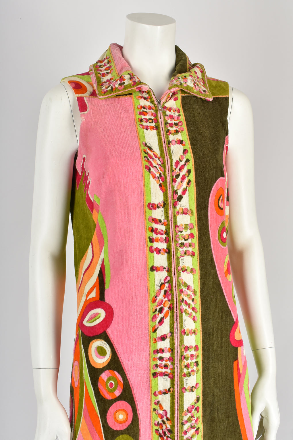 EMILIO PUCCI print sleeveless towelled zip up dress