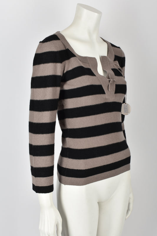 SONIA RYKIEL 70s NOS striped wool sweater XS-S