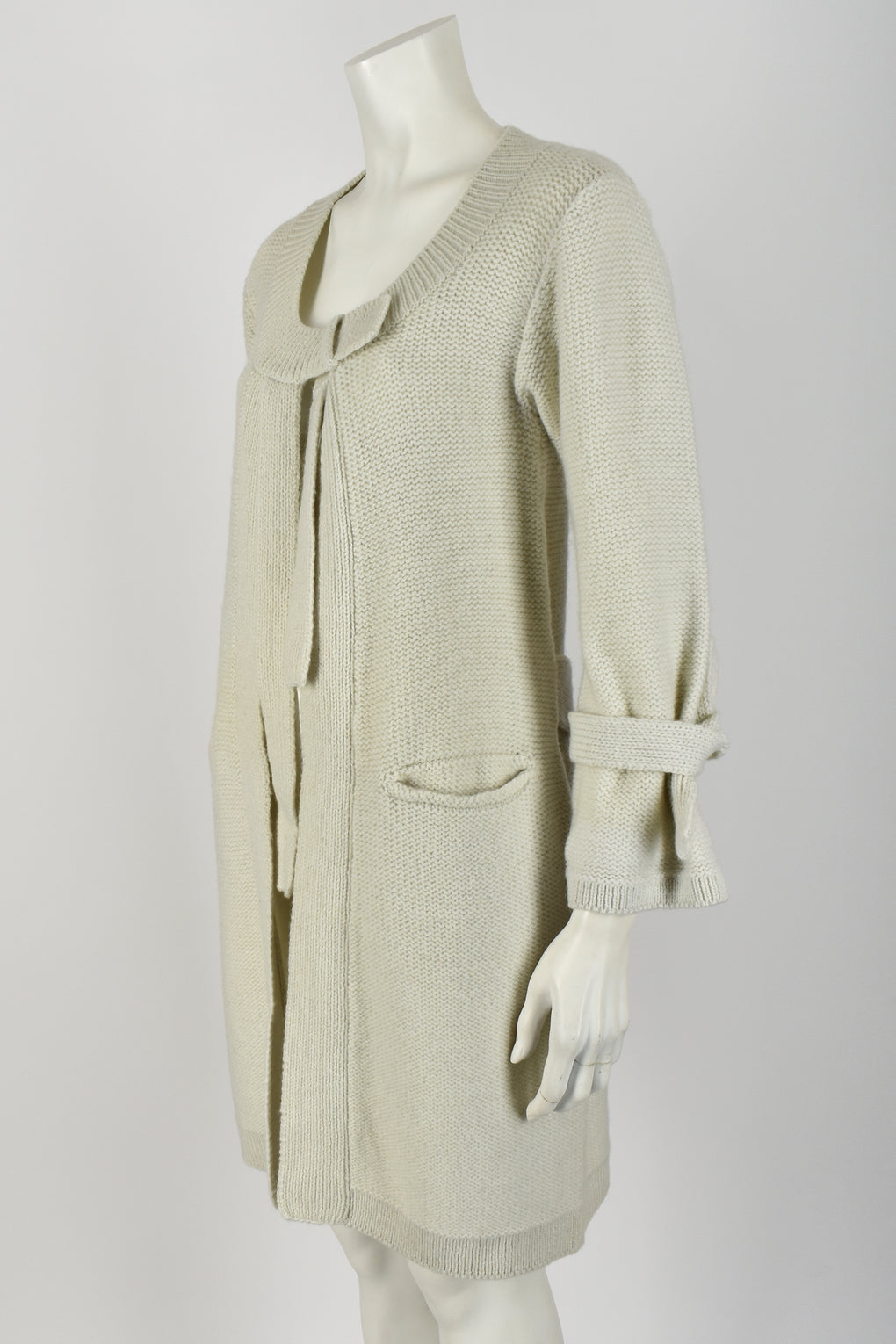 SONIA RYKIEL 70s long wool ties cardigan M