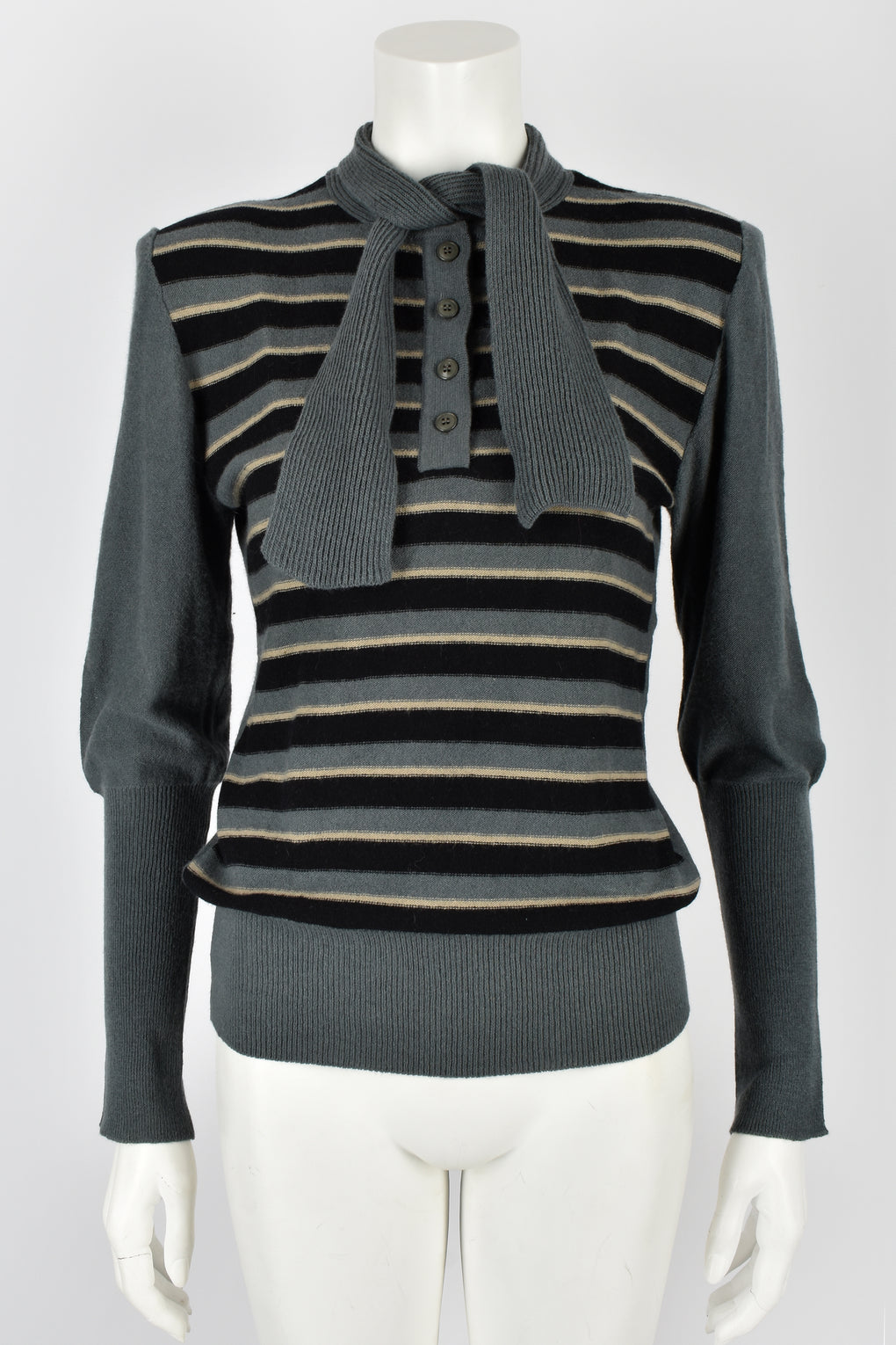 SONIA RYKIEL 70s NOS striped wool sweater M-L