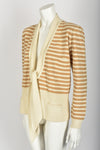 SONIA RYKIEL 70s NOS striped wool cardigan M