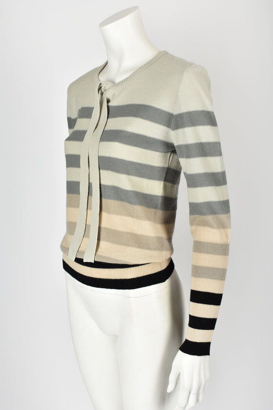 SONIA RYKIEL 70s NOS striped wool sweater S-M
