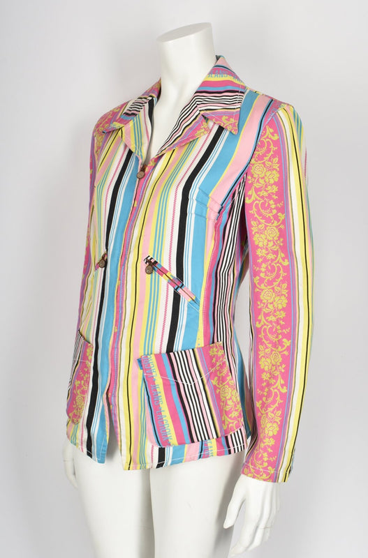 Christian Lacroix 90's multi pink striped blazer