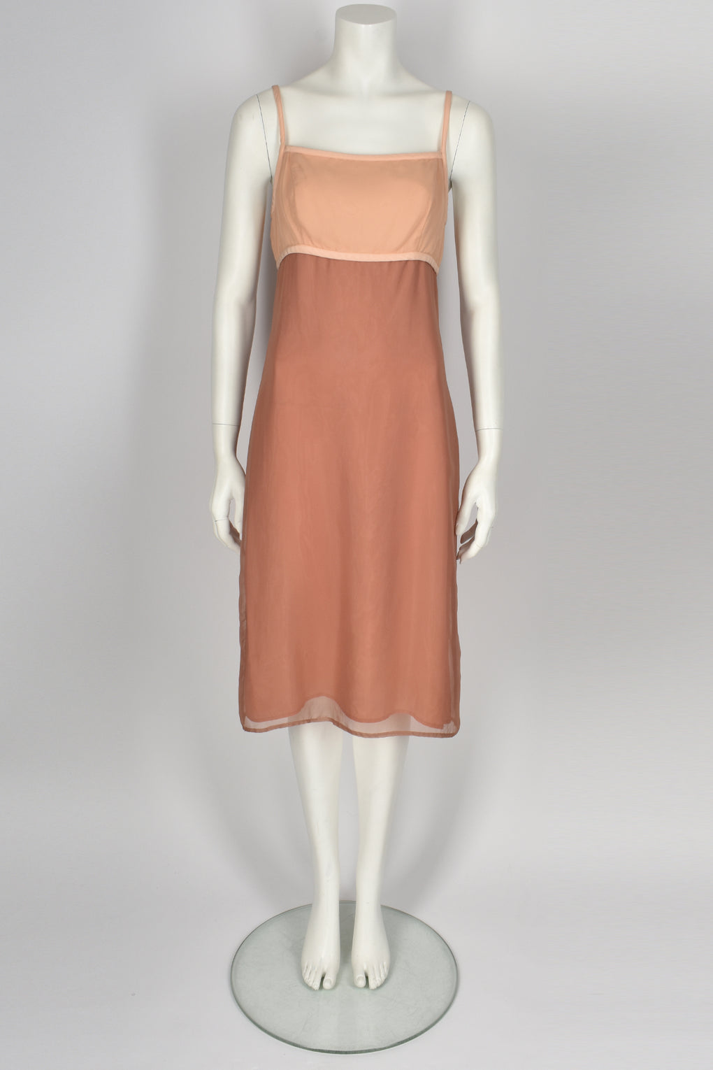 TOCCA 90's nude strappy dress