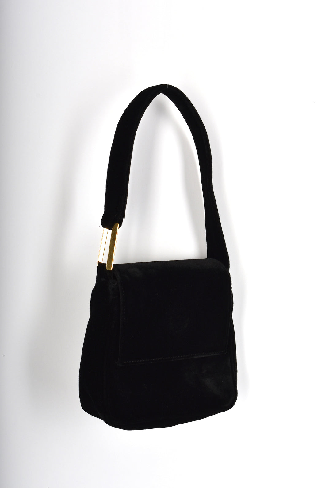 GIANNI VERSACE 80's black velvet bag