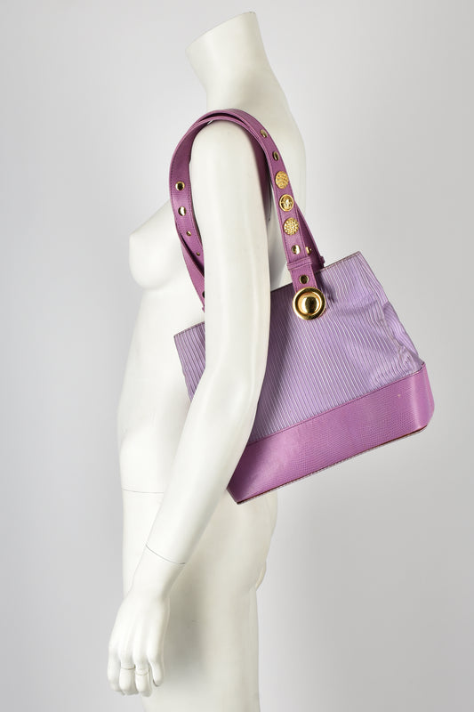 GIANNI VERSACE 80s lilac shoulder bag