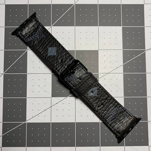 Black and grey MCM Watch strap