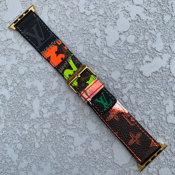"Custom ""What the LV"" watch band"