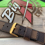 Custom LV DAMIER EBENE Apple Watch strap