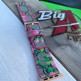 Custom red bloom GG watch strap
