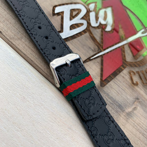 BLACK ON BLACK MINI GG APPLE WATCH BAND.