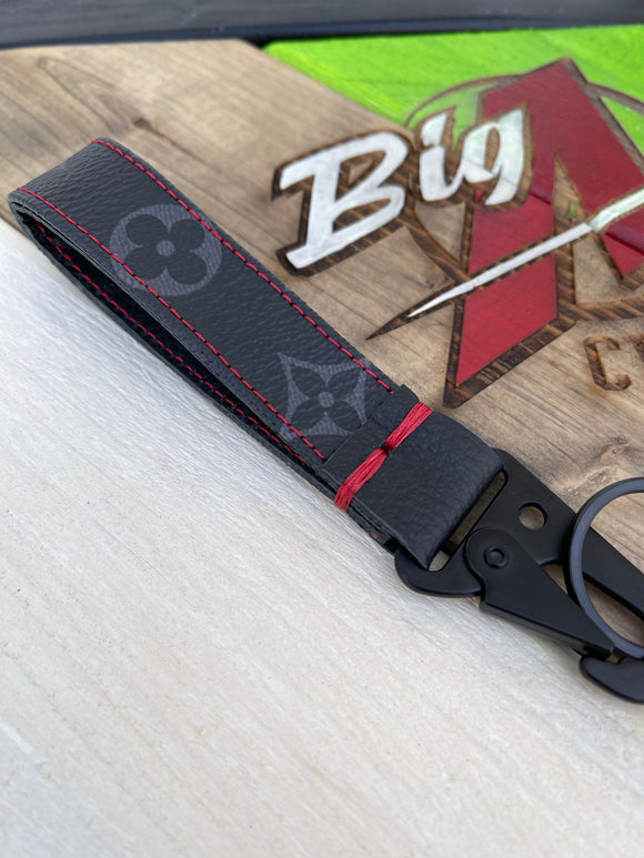 CUSTOM LV ECLIPSE KEY CHAIN WITH RED