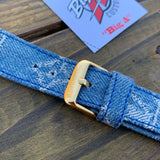 Louis Vuitton X Supreme Denim Apple Watch strap.