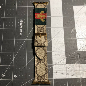 "Custom GG ""BEE"" Apple Watch strap"