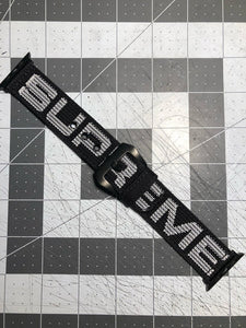 Black SS18 custom SUPREME Apple Watch strap