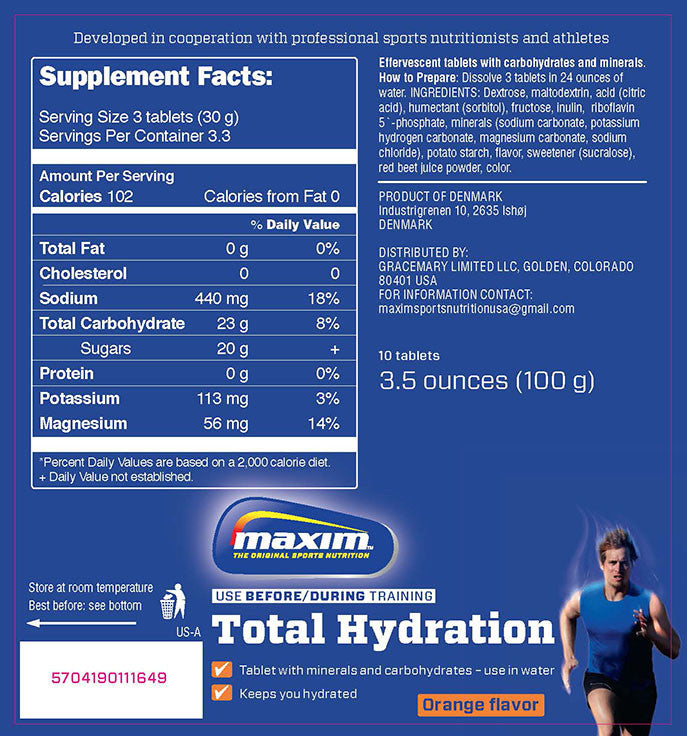 Maxim Total Hydration Tabs