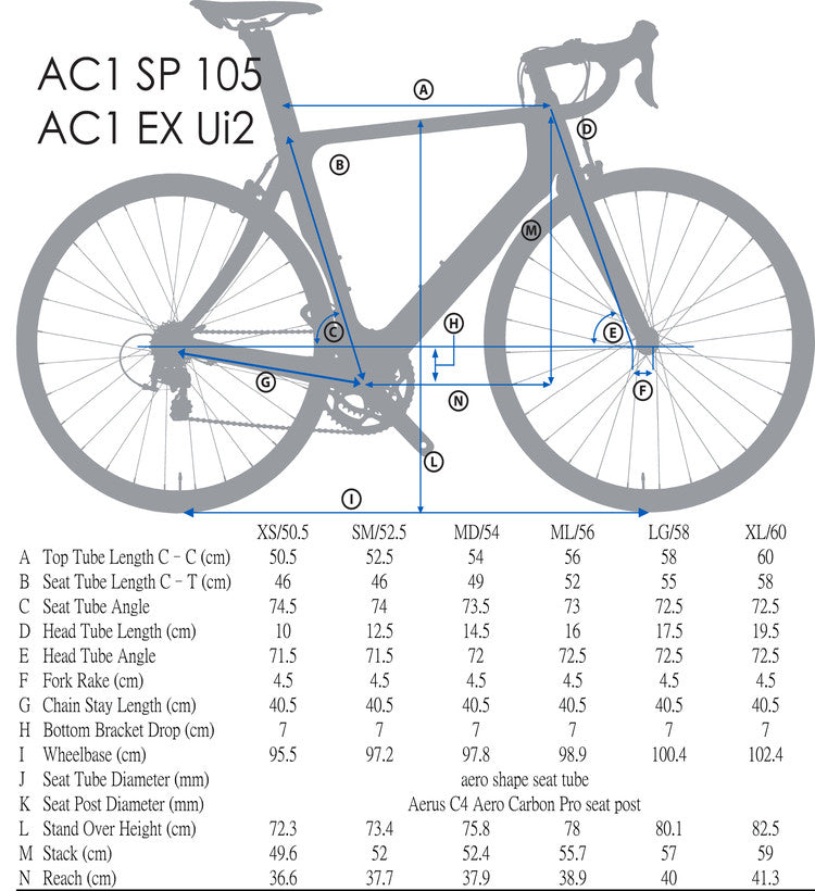 Blue AC1 Aluminum with Shimano 105