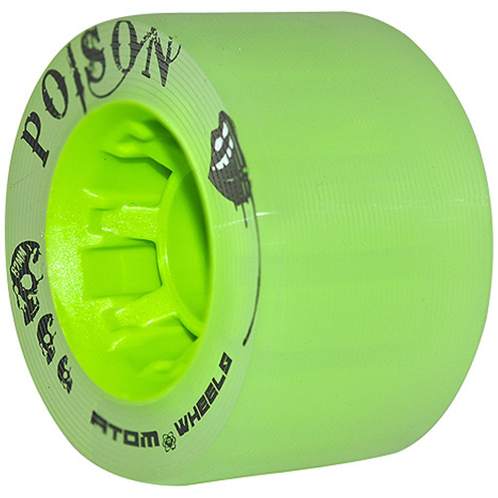 Atom Poison 62x38 green quad wheel