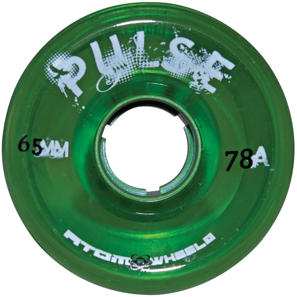 Atom Green Pulse outdoor quad wheel available @ Atom Skates