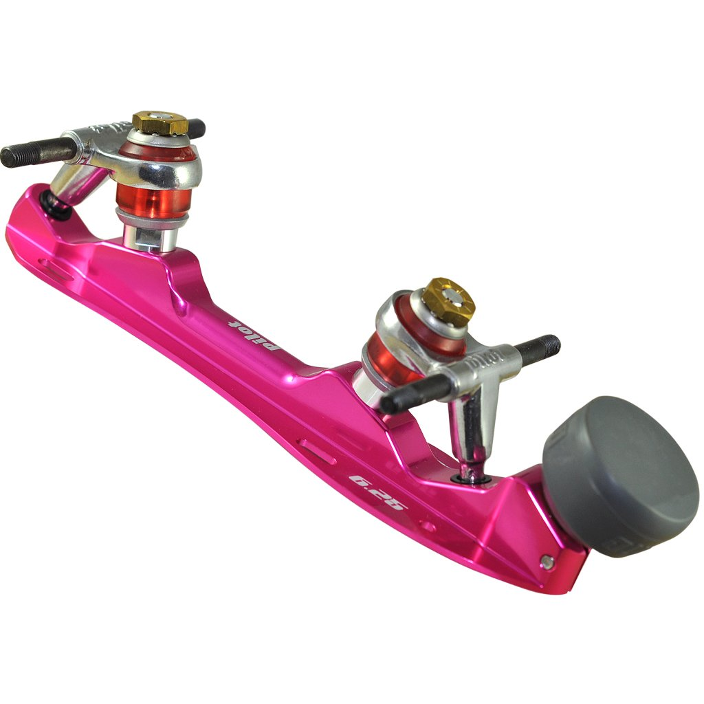 Pink Falcon Polished Quad Plate available @ Atom Skates