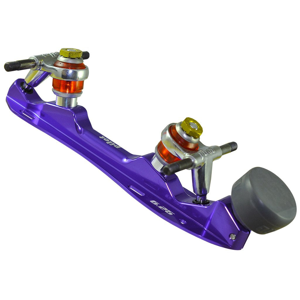 Purple Falcon Polished Quad Plate available @ Atom Skates
