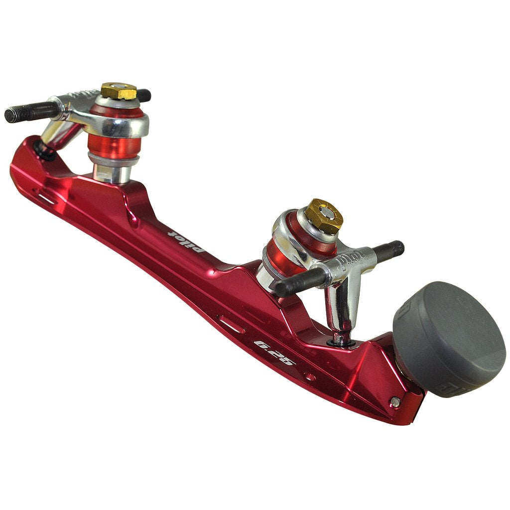 Red Falcon Polished Quad Plate available @ Atom Skates