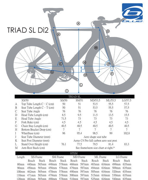 Blue Triad Super-Light Race with Shimano Dura Ace Di2