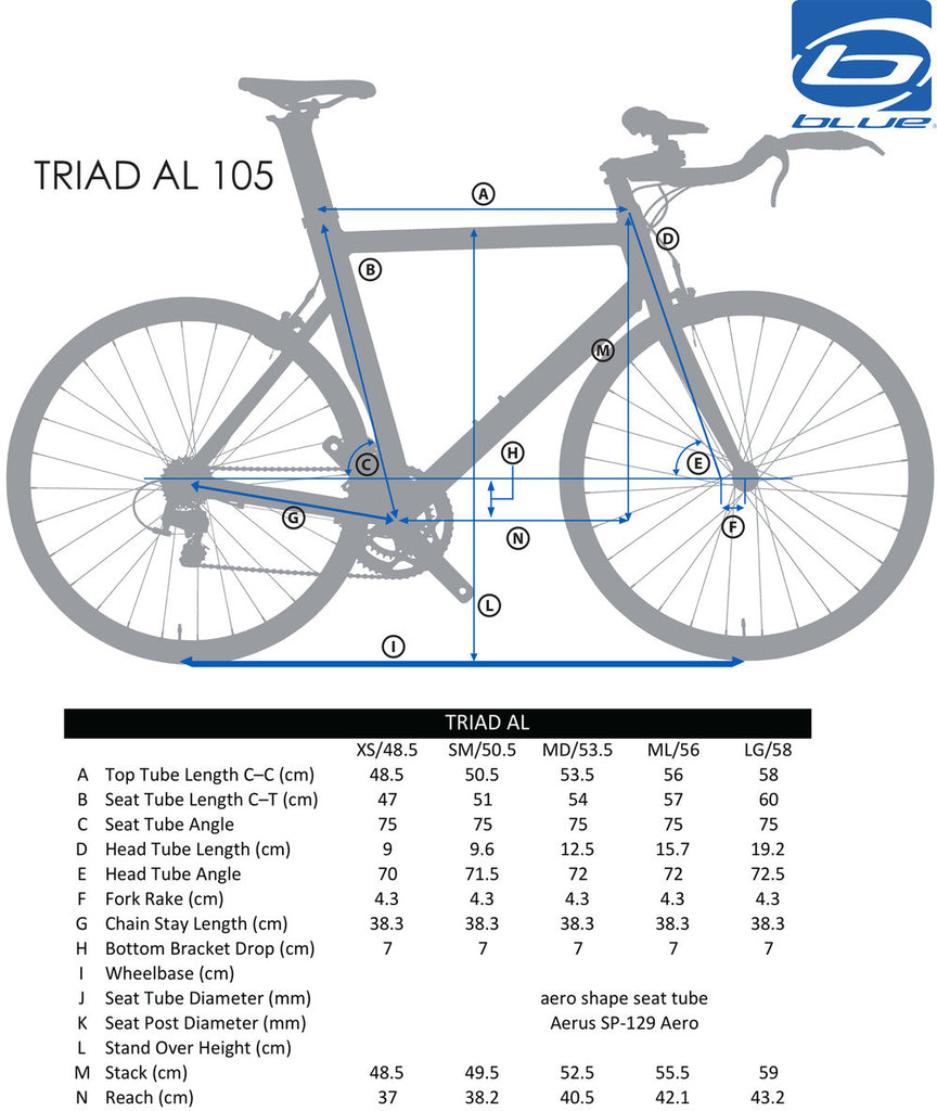 Blue Triad Aluminum with Shimano 105