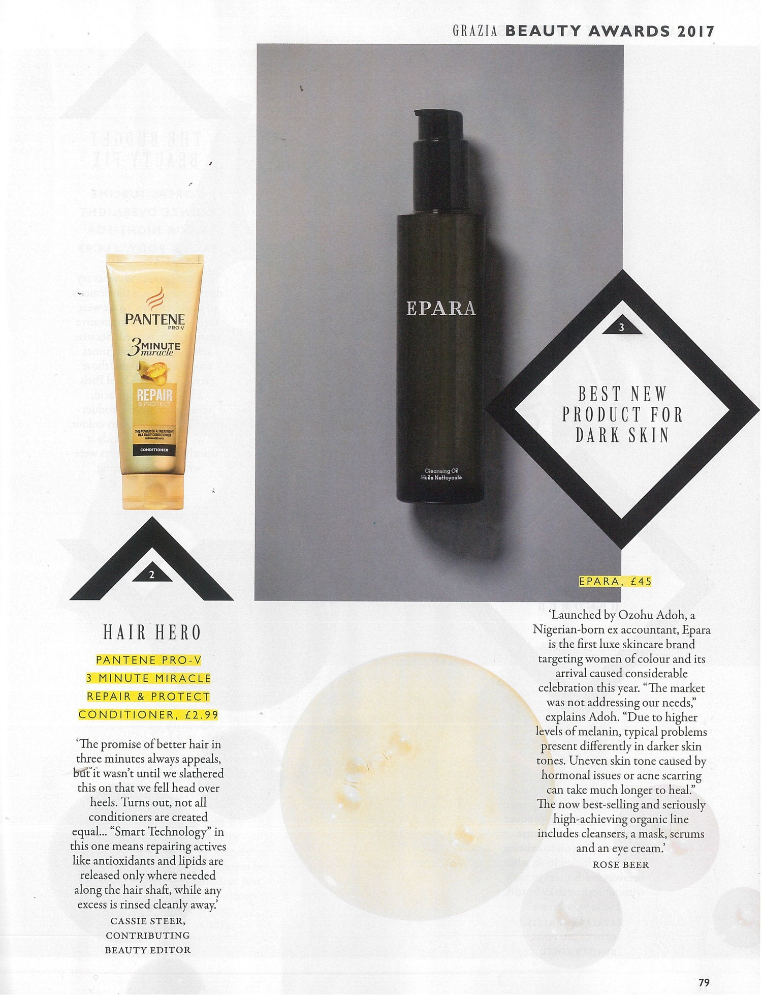 Cleansing Oil - Award Winning Skincare - Grazia Magazine