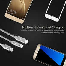Load image into Gallery viewer, PREMIUM UNBREAKABLE NYLON FAST CHARGING BRAIDED 3 IN 1 DATA CABLE