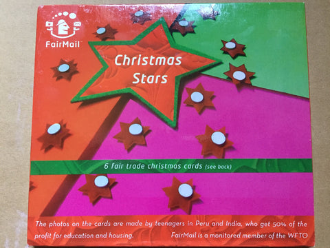 FairMail Christmas Stars - set of 6 Cards
