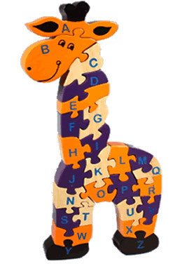 Alphabet Puzzle - Giraffe or Crocodile