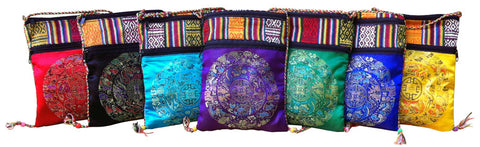 Satin Brocade Shoulder Bag from Nepal