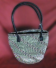 Zebra Crossing Sisal Handbag