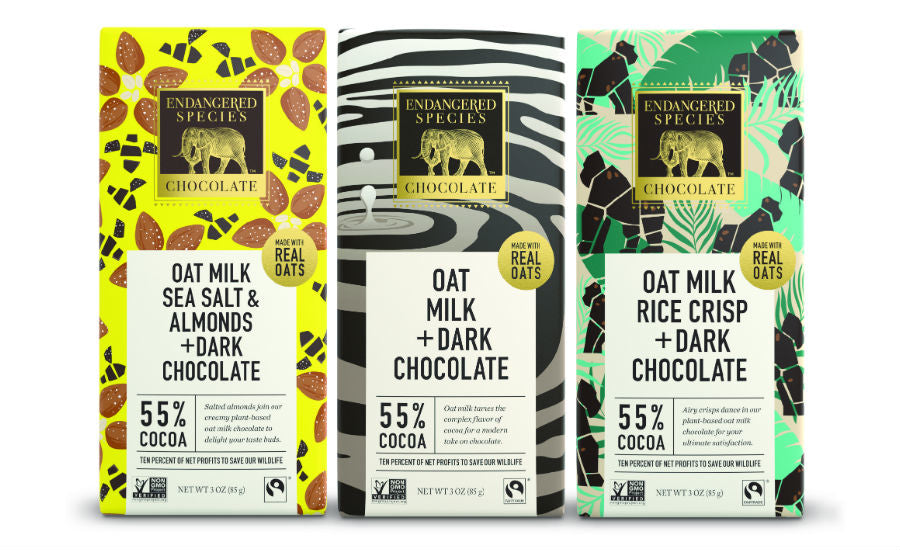 Endangered Species Oat Milk Chocolate Bars